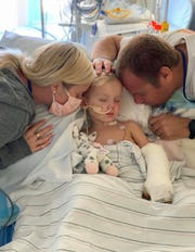 Beauden Baumkirchner's parents, Juliana and Brian, say their boy has endured at least 18 surgeries.