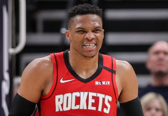 Russell Westbrook is out in Houston after one season with the Rockets.