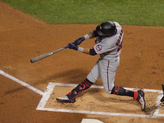 Eddie Rosario hit 13 真人百家家乐官网网站home runs last season with the Twins.