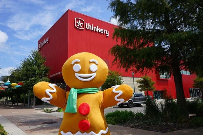 You can make a smaller version of the Gingerbread Man with kits from the Thinkery.