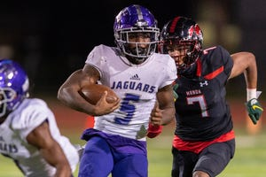 LBJ running back Daqwon Donaldson is coming off a career game in last week's playoff win over Corpus Christi Calallen, when he ran for 163 yards. Donaldson and the Jags will seek the first regional championship in school history Saturday against Corpus Christi Miller.