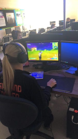 Brianna Oeken and Samuel Krupar are two members of the Ashland High School eSports team.