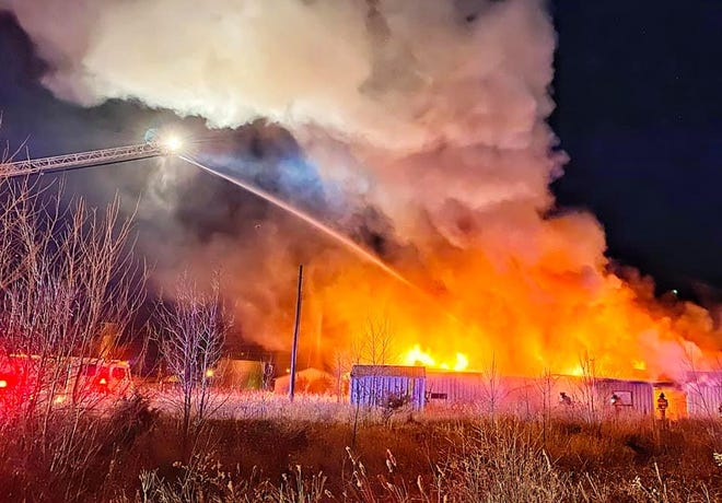 The Ames Fire Department responded to a warehouse fire at 2 a.m. Friday, Dec. 4.
