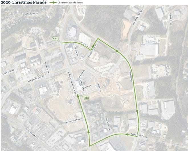 Martinez-Evans Christmas parade route
