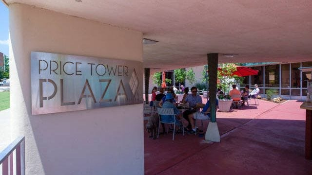 The Price Tower Plaza opened in June.