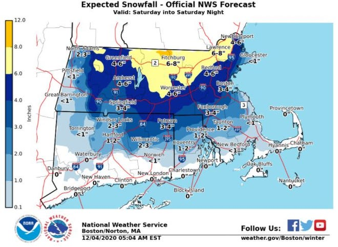 Light snow expected for Cape Cod Saturday evening