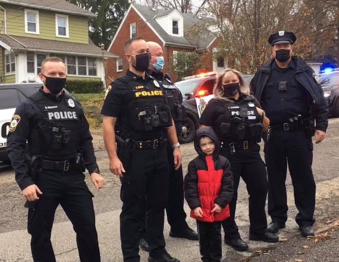 Five-year-old Randy Duffy got a surprise visit by Wooster Police Department officers on Thanksgiving Day for his birthday, which was Nov. 27. Randy and his family were displaced after their home caught fire earlier in November.
