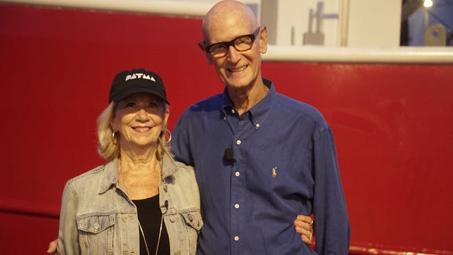 Roger Mandle is seen with his wife, painter Gayle Wells Mandle.