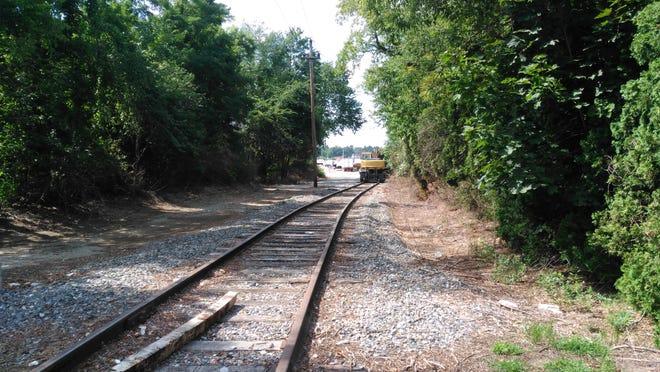 Railroad tracks run through Hopedale in this file photo.