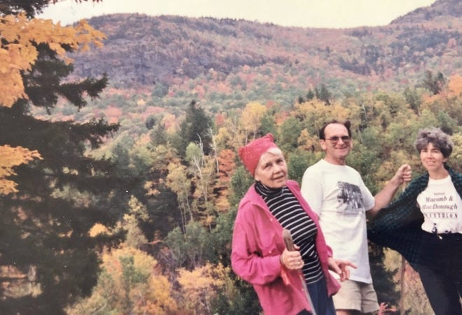 Marion Biesemeyer in 1991 at age 80 was still hiking in the Adirondacks with her daughter and son-in-law, Anne and Jim Bailey.