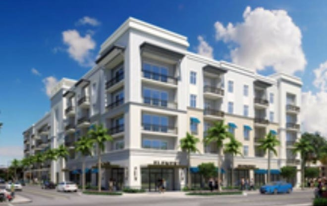 The Element is a five-story, 124-unit apartment building in downtown Lake Worth Beach that has drawn opposition from residents.