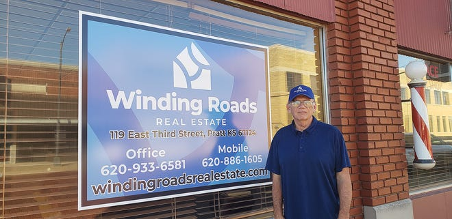Henry Hudson is ready to assist both buyers and sellers in navigating  the twists and turns of buying and selling property from his new office at Winding Roads Real Estate, 119 East Third Street in Pratt.