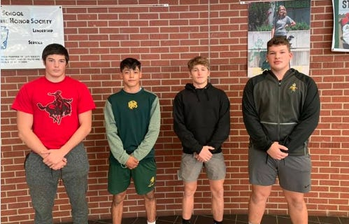 Pratt High School football players (from left)Bryce Winsor, Johnny Martinez, Devon Weber and Drake Van Scoyoc received post-season honors for the 2020 season, as did Jesus Acosta (not pictured).