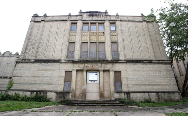 The former Lehman High School building photographed in June 2019.
