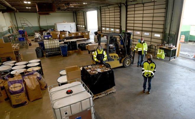 The Canton Recycle Center facility under guidance of Canton Environmental Health Director Annmarie Butusov.