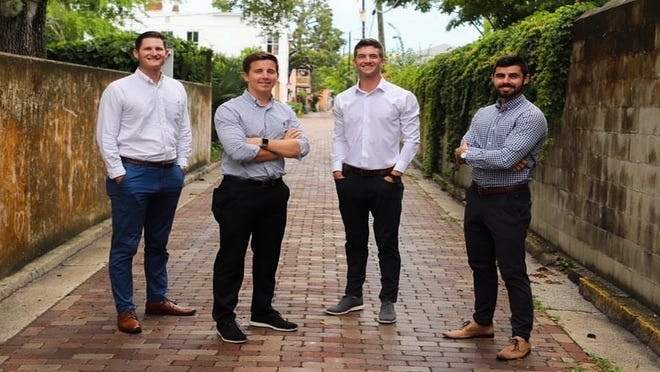 Former Flagler College baseball players Dustin Dye, Jeremy Taylor and Luke Cooksey joined Keifer McClain to create River + Coast Property Group in August.