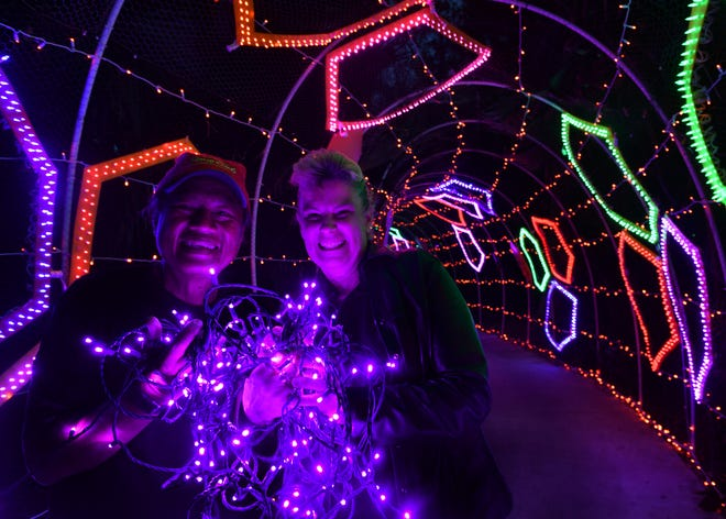 Phil and Carolyn Babas, of Affairs in the Air,  have been decorating Selby Gardens for Lights in Bloom since 2015. They specialize in wedding event decor.