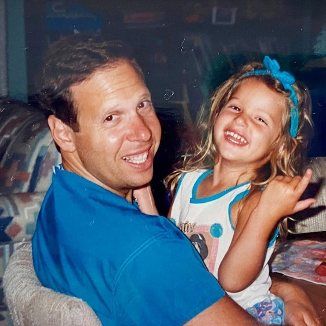 Dr. David Byck, pictured here in a family photo with his daughter Elle, died this week. He left a legacy in Savannah as a physician and community member.
