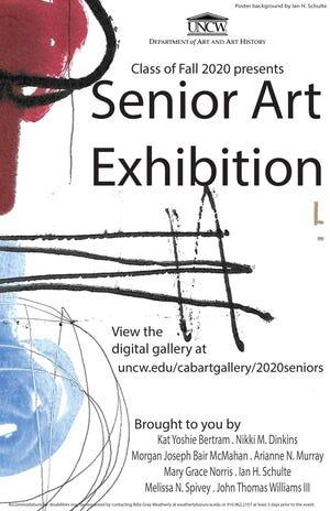 The Unviversity of North Carolina Wilmington Class of Fall 2020 presents its Senior Art Exhibition.