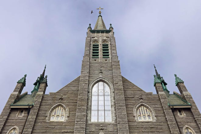 Our Lady of Guadalupe Parish in New Bedford. The city recently rescinded stricter COVID-19 regulations in favor of following statewide guidelines.
