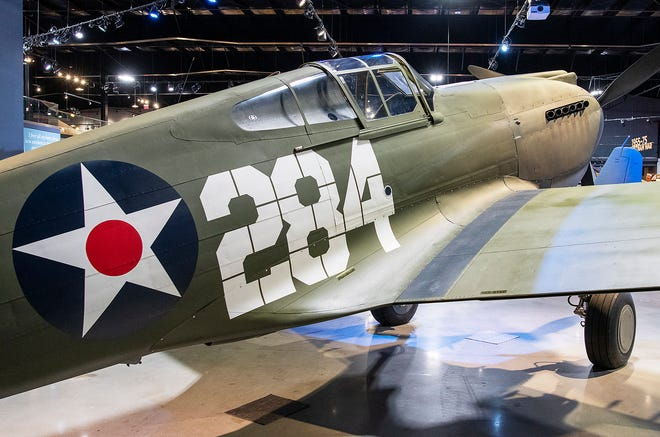 The American Heritage Museum has a Curtiss P-40B Tomahawk fighter plane that was at Pearl Harbor on December 7, 1941.