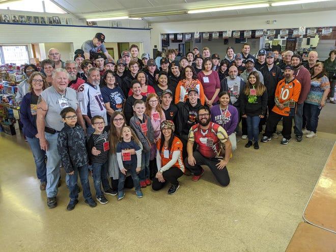 Members of Pueblo Bikers United and volunteers after the 2019 Pueblo Toy Run.