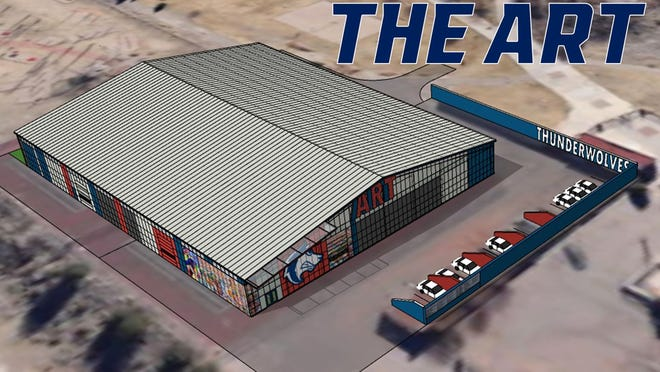 A rendition of 'The Art', an athletic indoor training facility on the Colorado State University Pueblo campus, will be completed by March 2021. It is named after longtime CSU Pueblo donor Art Gonzales. [Courtesy photo/CSU Pueblo sports information]