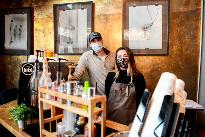 AshleyWilliams-Faber and Chris Faber, owners of The Times, have reopened their bar as a coffee shop in downtown Asheville.