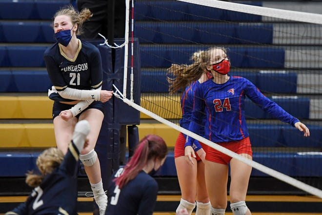 Army commit Mackenzie Lynch (21) led Roberson with 265 kills as a junior.