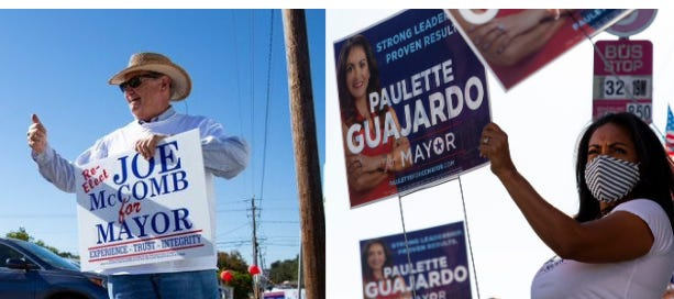 Mayoral candidates Joe McComb and City Councilwoman Paulette Guajardo are headed to a runoff election Dec. 15.