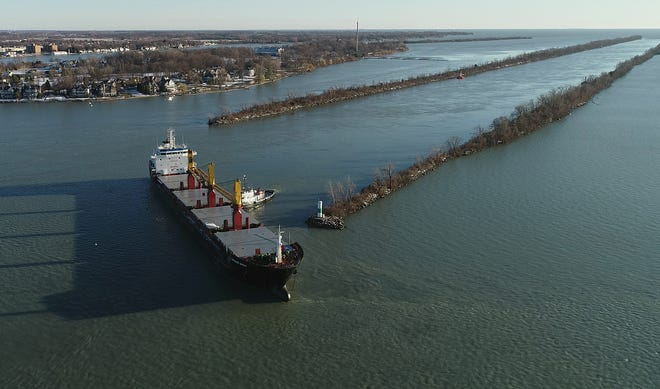 Officials were able to free and refloat the Harvest Spirit freighter Thursday after it was stuck in the Detroit River's Livingstone Channel.