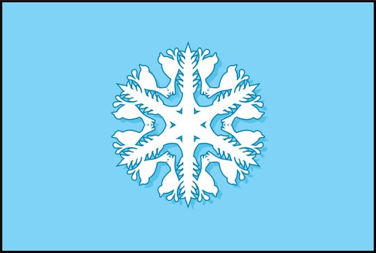 Finished design of the snowflake designed by Indianapolis artist Erin Hüber.