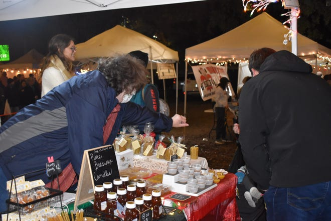 Shoppers shopped for local treasures at Christmas Market