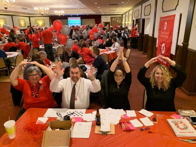 The OSU Beat Michigan Bash this year will be held on Dec. 10 on Zoom. Tickets are $15 and proceeds go to the scholarship fund of the OSU Alumni Club of Richland County for 2021 high school graduates. Left to right, Diane Molyet, Jay Wachs, Bertha Bishop and Kayla Smith. Submitted
