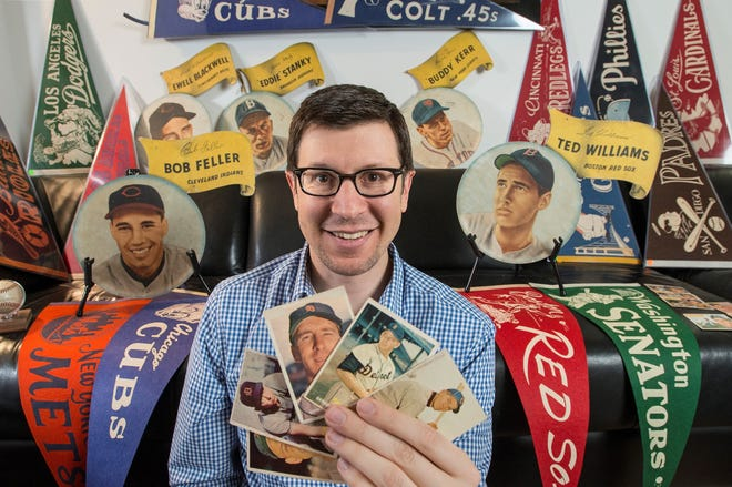 Michael Osacky is a professional sports memorabilia and trading card appraiser. He will be in Mansfield on Monday and Tuesday to help people determine how much collectibles cost.