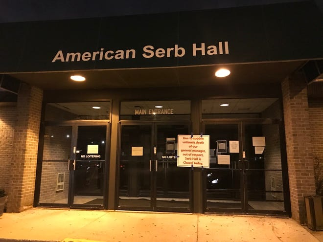 American Serb Hall was closed Friday following the death of general manager Nicholas Alioto.