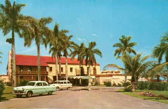 A historical photo of the Naples Beach Hotel and Golf Club.
