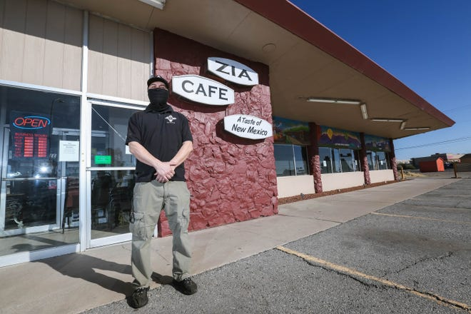 Alonzo Burciaga is pictured in front of Zia Cafe in Las Cruces on Friday, Dec. 4, 2020.