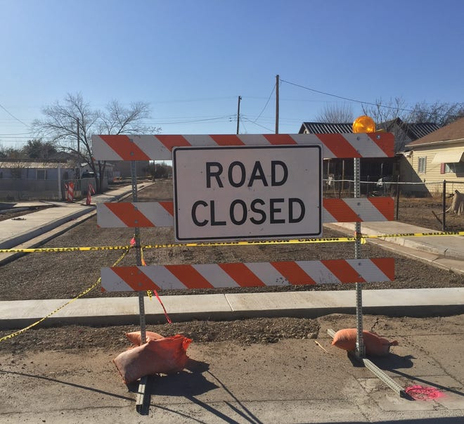 A road construction barricade in Artesia on Dec. 4, 2020. Construction is set to start Dec. 7 on Higby Hole Road south of Carlsbad.