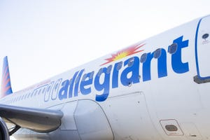 Allegiant planes are parked at the Phoenix-Mesa Gateway Airport in Mesa on Dec. 3, 2020.