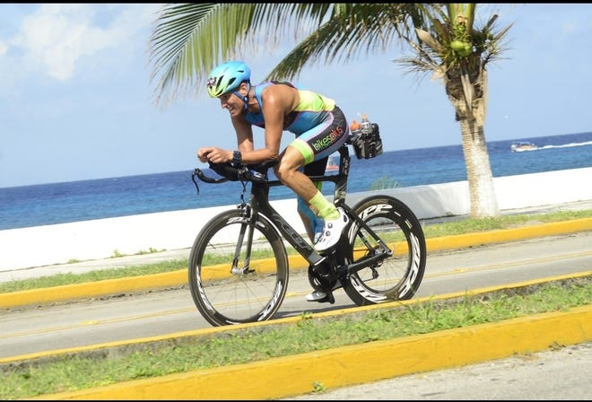 "Mark ""The Sparrow"" Swart, 53, of Jensen Beach, competed in the Ironman Cozumel on Nov. 22, 2020, qualifying for the Ironman World Championship in Kona, Hawaii, in October 2021."