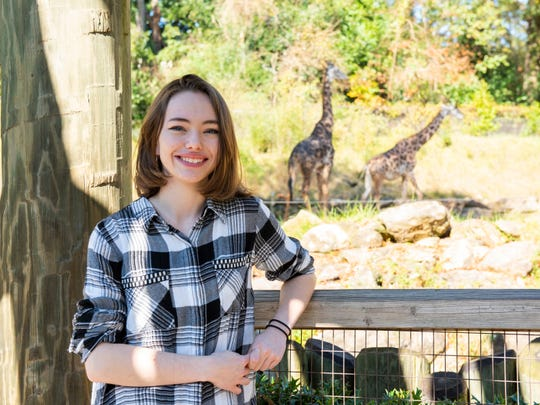 Brianna Bruce volunteers in the education department at the Greenville Zoo.
