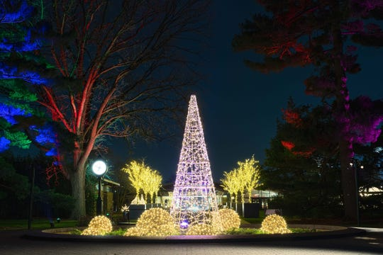 The New York Botanical Garden's newest holiday attraction, Glow, includes thousands of LED light displayed through the garden.