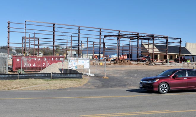 Construction continued Friday morning on the new S-5! manufacturing facility in Iowa Park.