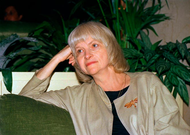 This September 1988 file photo shows author Alison Lurie in New York. Pulitzer Prize winning novelist Lurie has died at age 94.