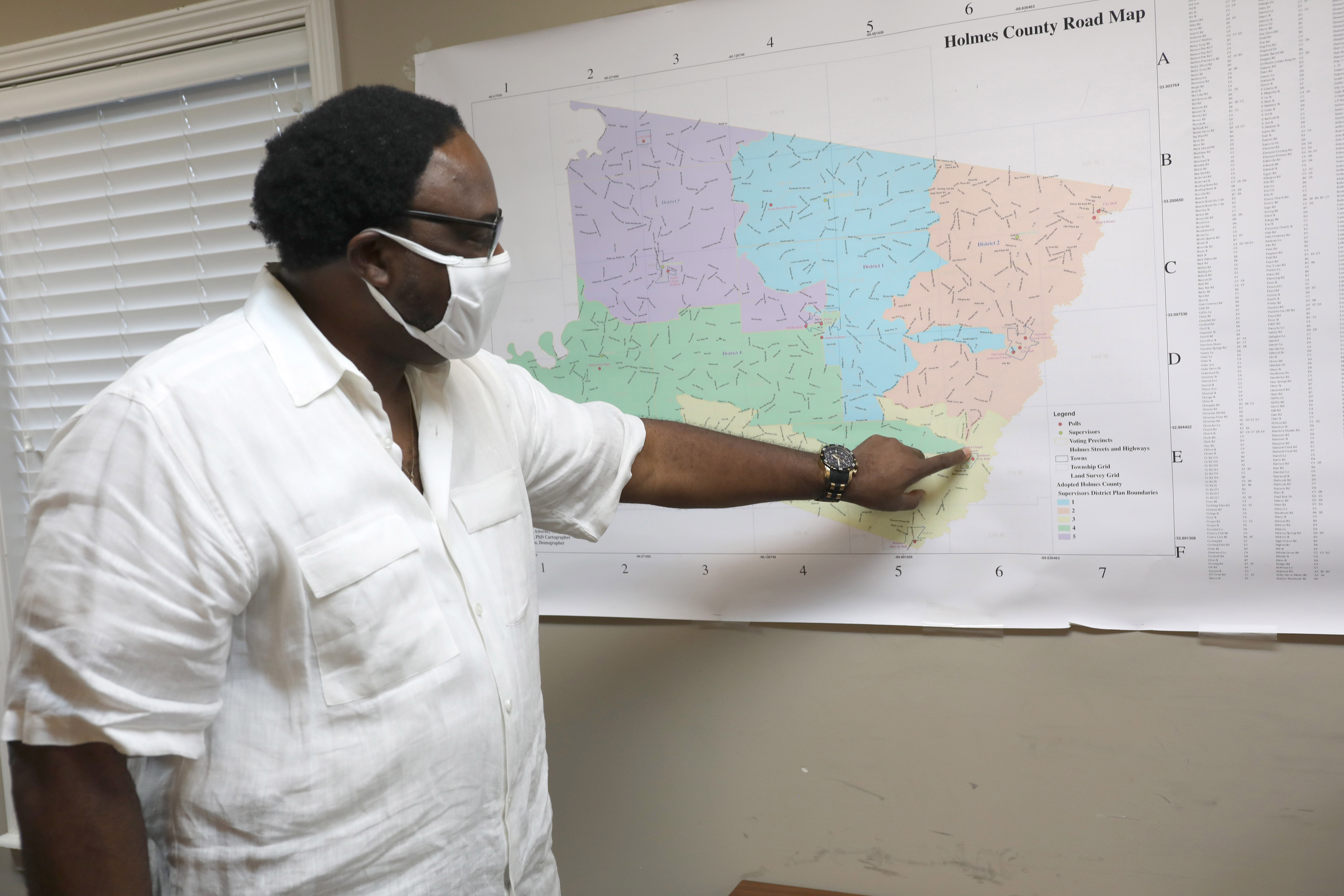 Holmes County Supervisor Leroy Johnson, seen here Nov. 15, says COVID-19 was made worse in Mississippi because of the lack of health care funding to rural areas like his, the most impoverished in the state.