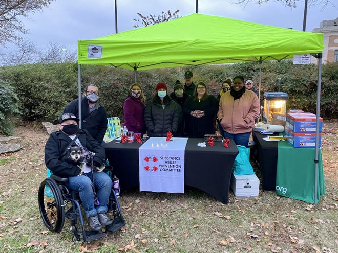 The Carter County Substance Abuse Prevention Committee partnered with Wichita Mountain Prevention Network in efforts to make the Substance Abuse Memorial happen in Central Park. Many people came out to honor those who have died from substance misuse.