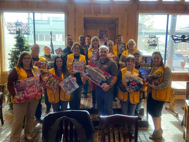 Todd Suire from Toys for Tots visited the Lions Club.