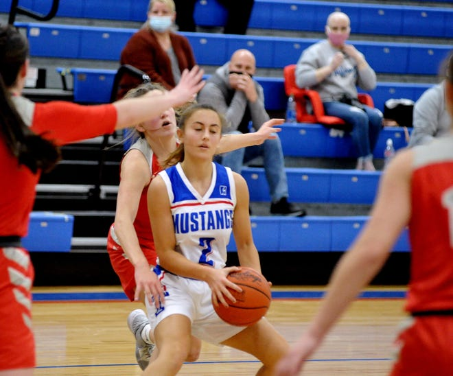Tuslaw's Selah Yost finds herself surrounded by Northwest defenders.