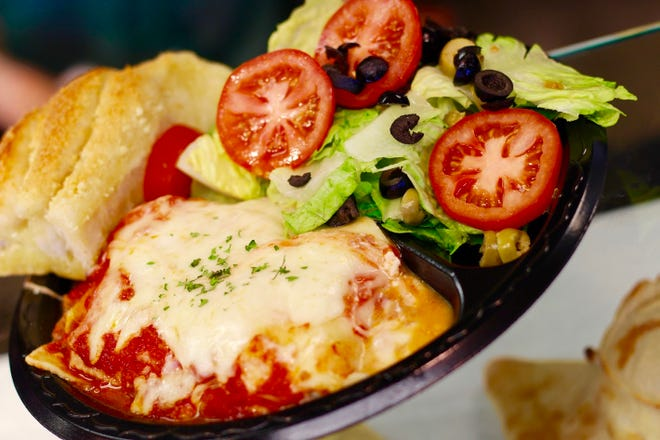 The lasagna is one of the most popular dishes at  Nellys Italian Cafe & Pizza.